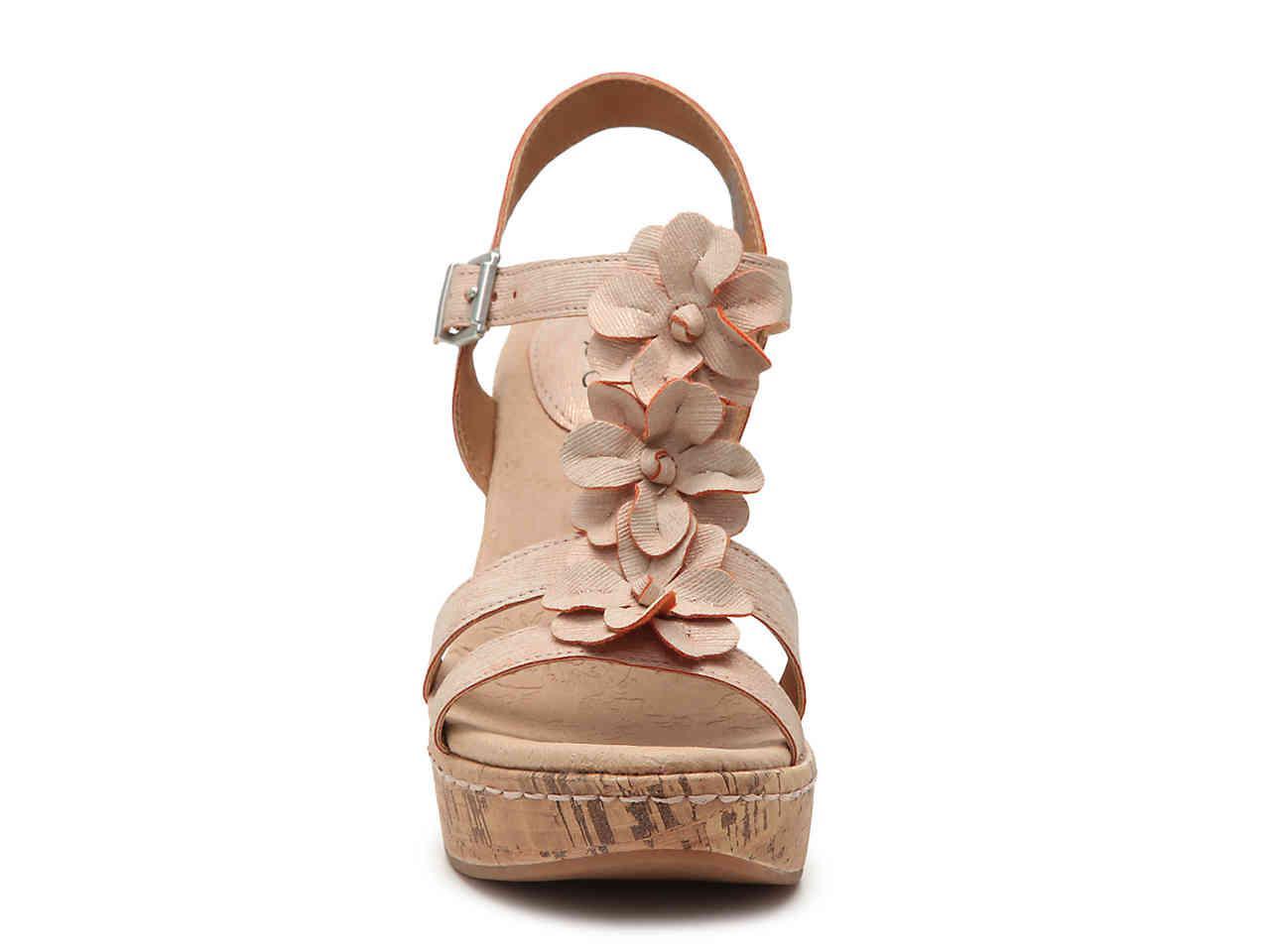8b774bcfe043 Lyst B ø C Jills Wedge Sandal In Metallic. B O C Womens Shoes Dsw