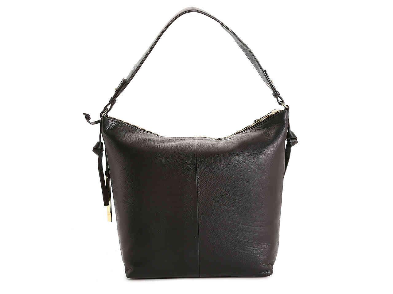 Lyst - Tahari Riley Leather Hobo Bag in Black 589c5d9c34
