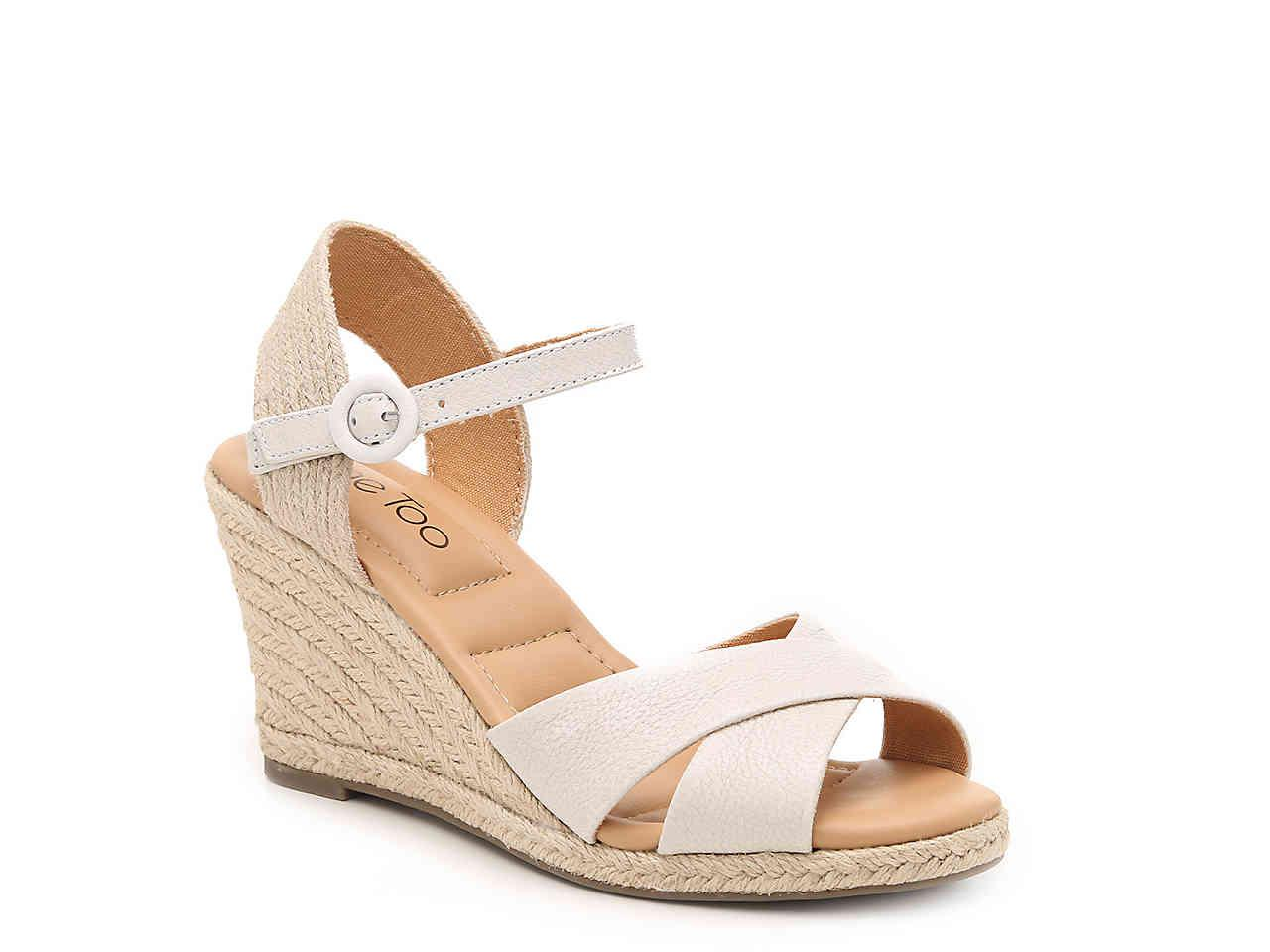 33d6ed720ab Lyst - Me Too Bettina Espadrille Wedge Sandal in White