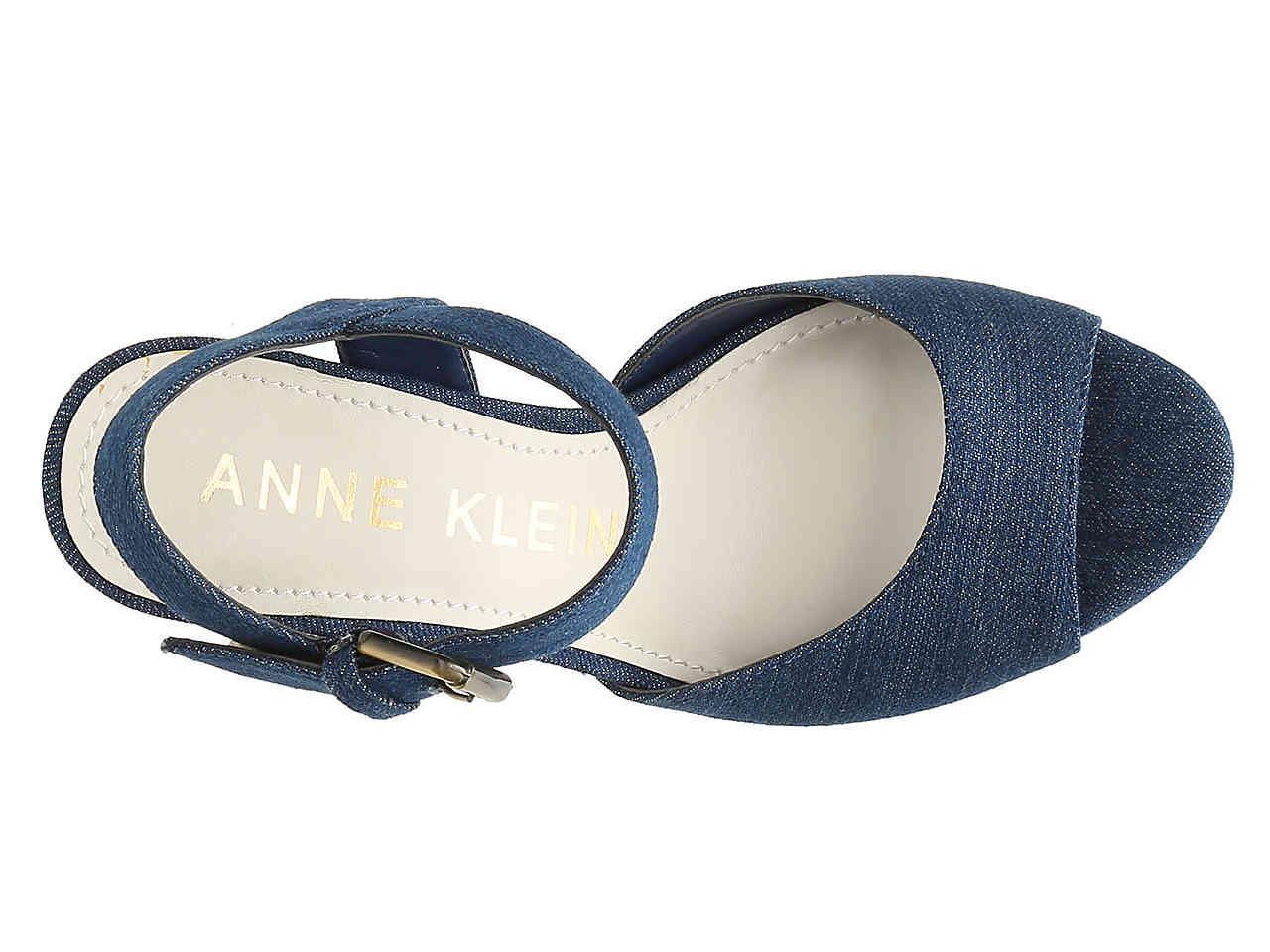 168e1ef1fc79 Anne Klein - Blue Lyza Platform Sandal - Lyst. View fullscreen