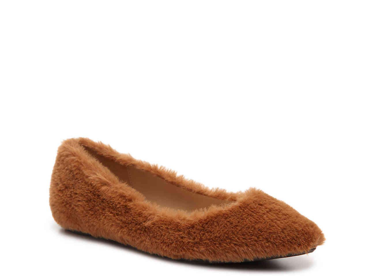 In China Exclusive Penny Loves Kenny Aaron Fuzzy Flat(Women's) -Grey Faux Fur Cheap Brand New Unisex Exclusive k5fLv