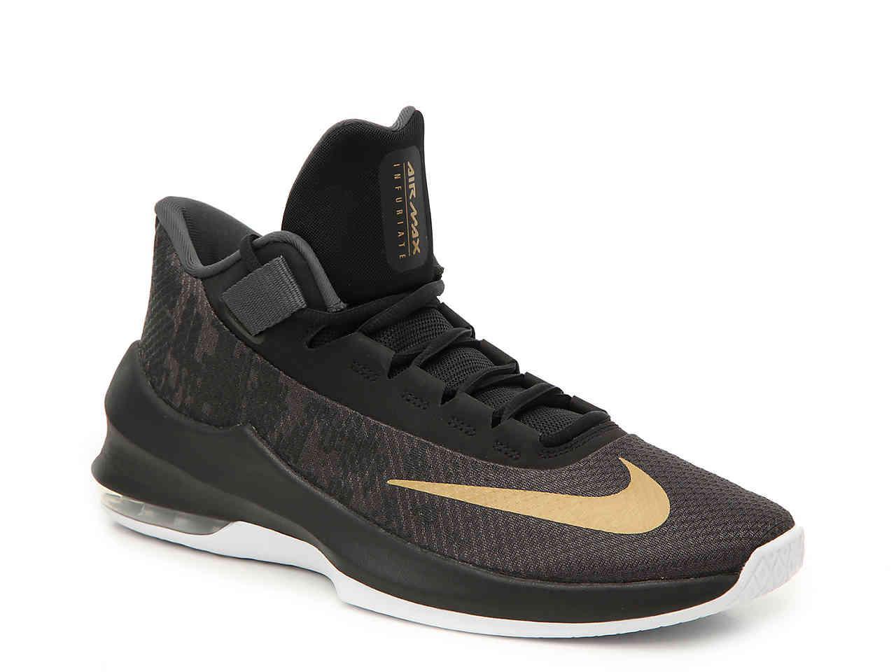Lyst - Nike Air Max Infuriate 2 Basketball Sneaker in Black for Men d1d08e9c9