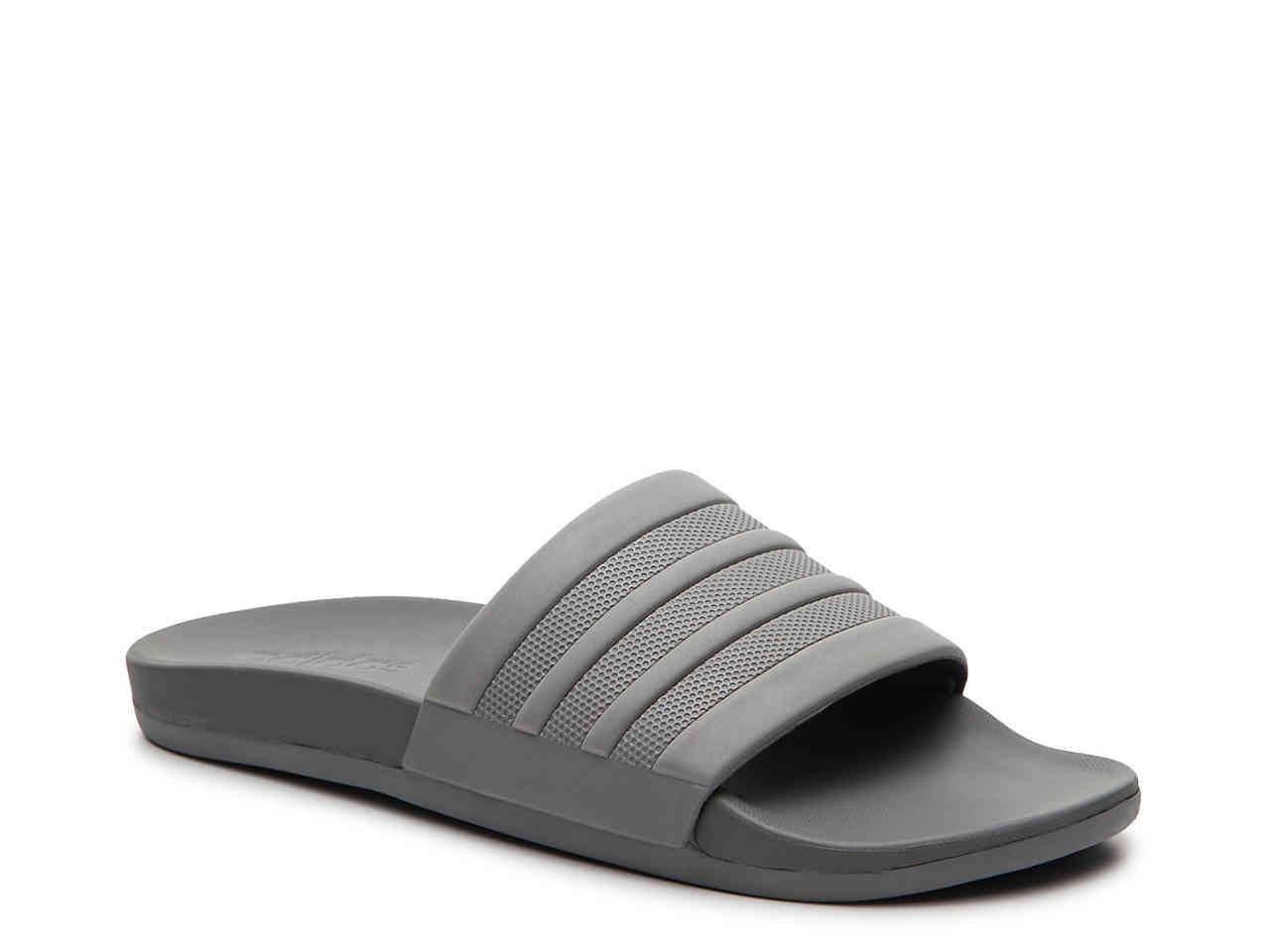 e0ac0addd473 Lyst - adidas Adilette Cloudfoam Mono Slide Sandal in Gray for Men