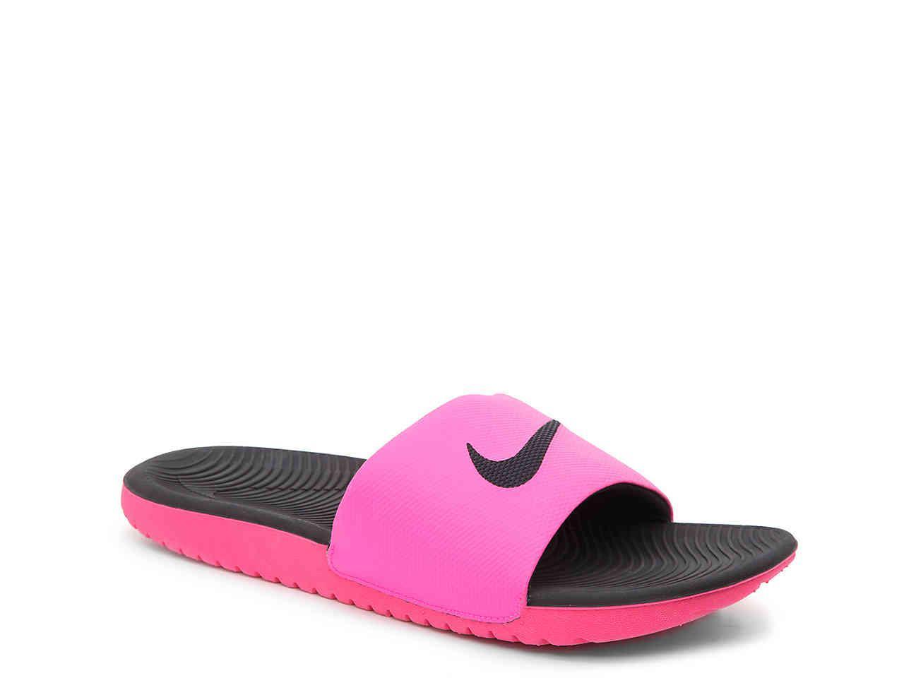 ba79ca287976 Lyst - Nike Kawa Slide Sandal in Pink