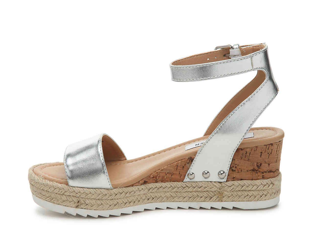 3b329e1779a2 Lyst - Steve Madden Jaide Espadrille Wedge Sandal in Metallic
