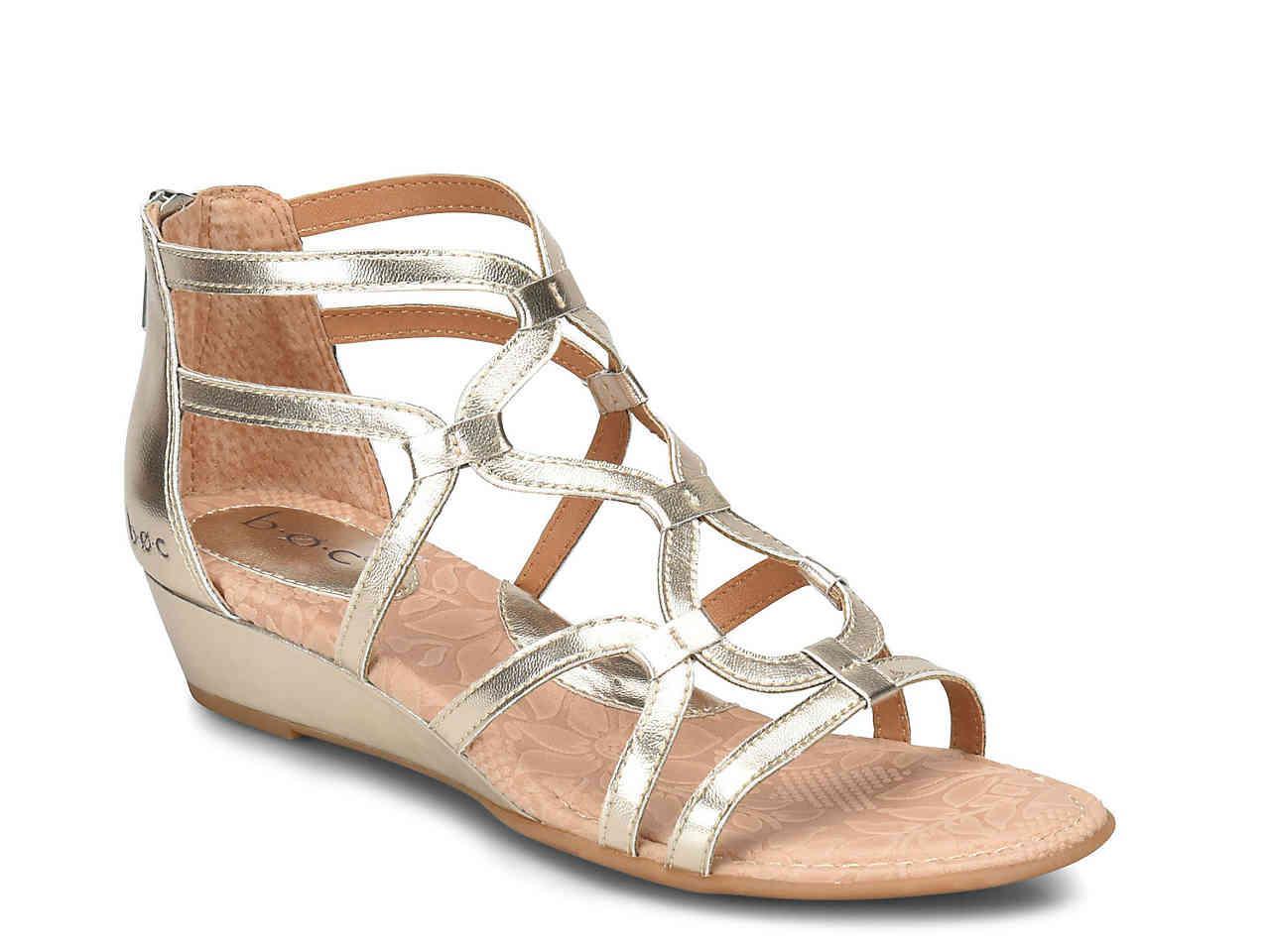 3f5e3504c691 Metallic Pawel Wedge Gladiator Sandal - Lyst. View fullscreen