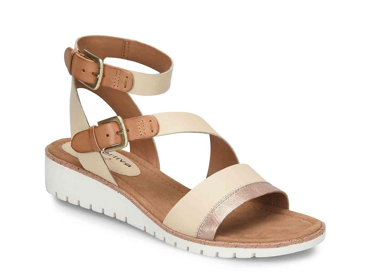 Lyst - Comfortiva Corvina Wedge Sandal in Brown dd149860ed