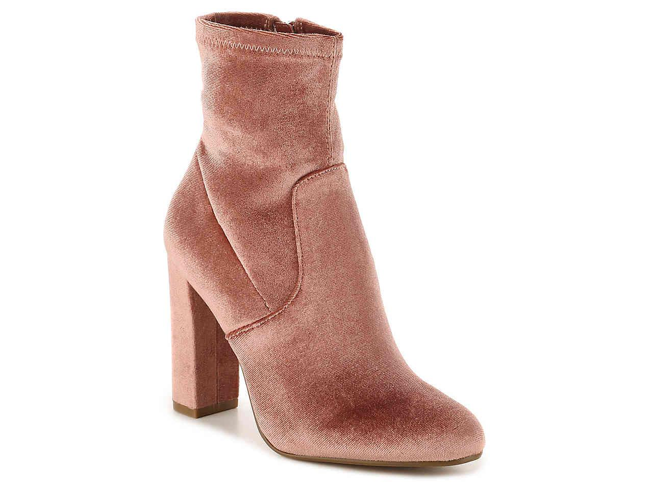 0e8cd0b427d Lyst - Steve Madden Edit Velvet Bootie in Brown
