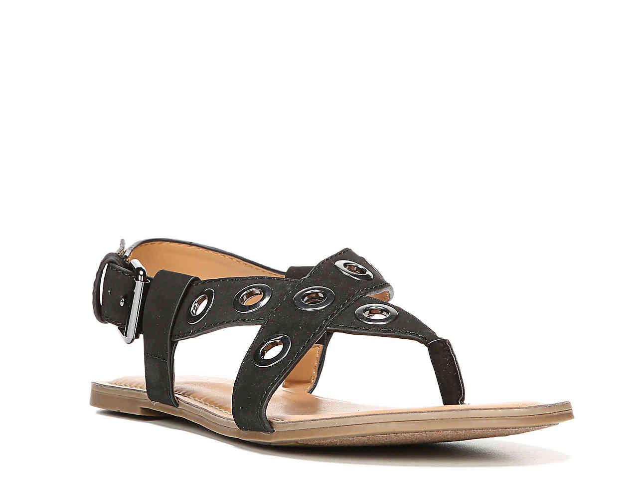 f071a1018c2a2 Lyst - Franco Sarto Jordy Flat Sandal in Black