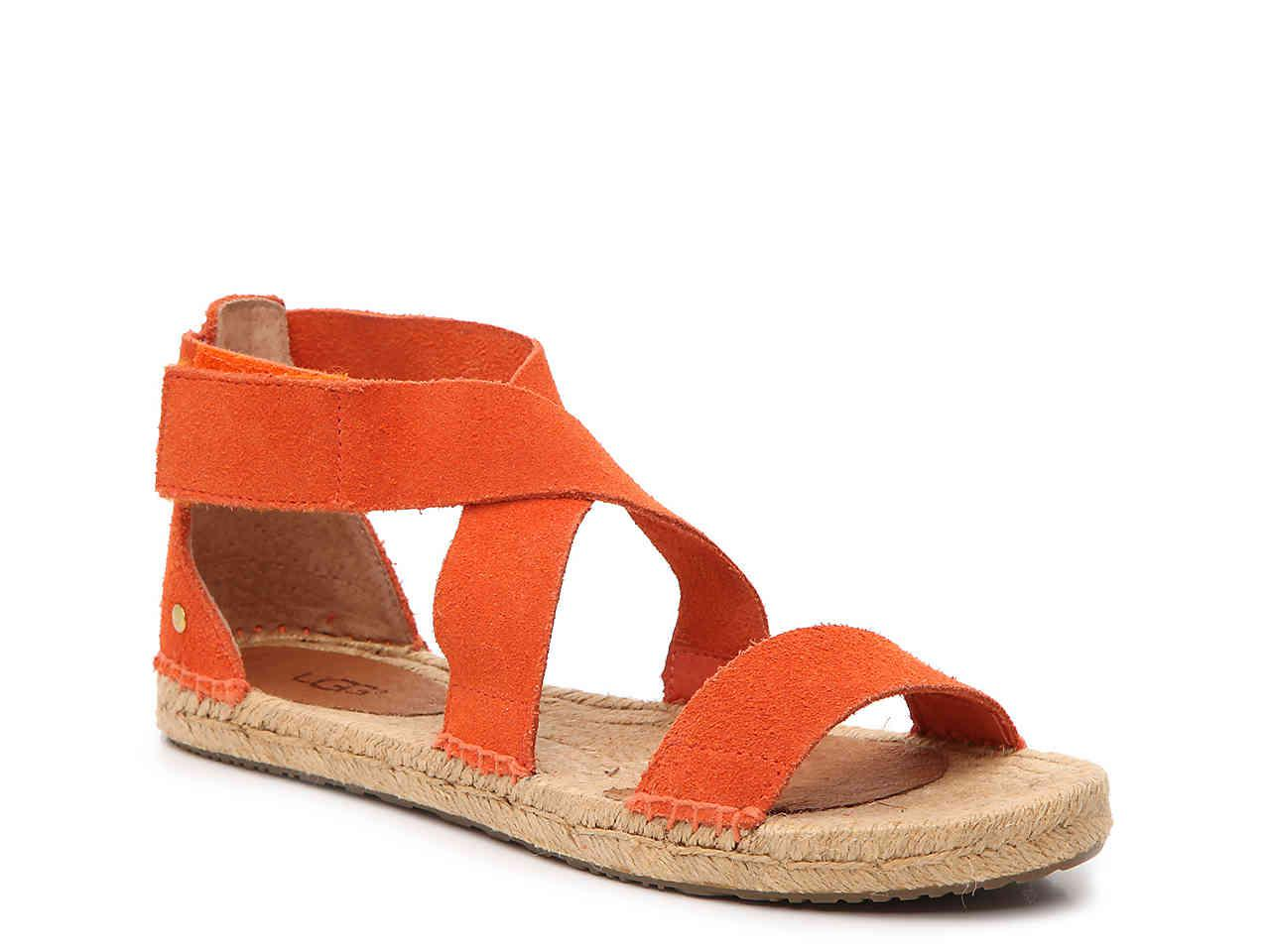 db245e7510e4 Lyst - UGG Mila Flat Sandal in Orange