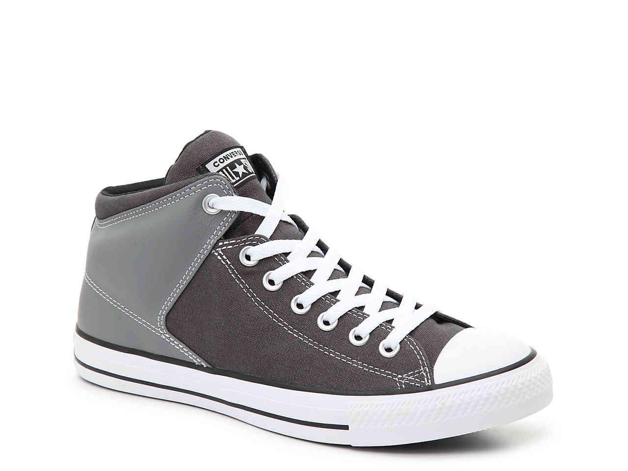 e8b25d89d7bebf Converse - Gray Chuck Taylor All Star High Street High-top Sneaker - Lyst.  View fullscreen