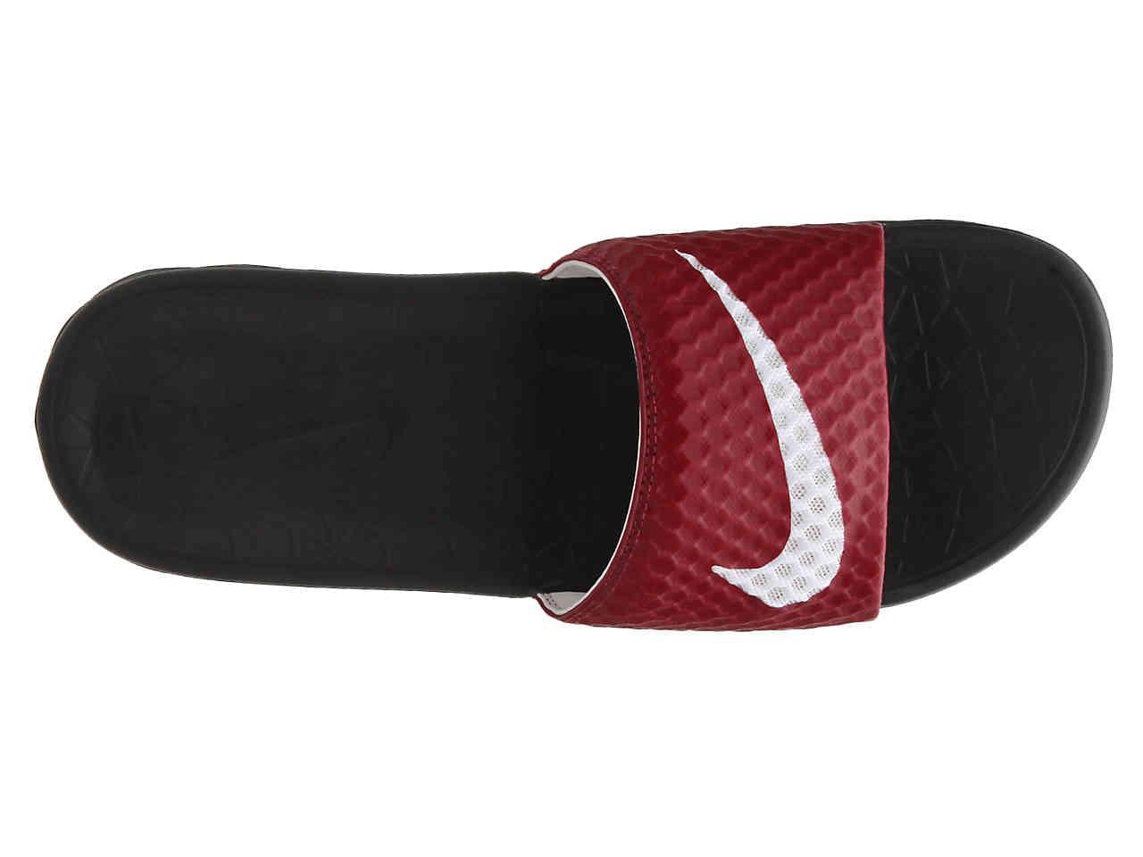 purchase cheap 87918 fae45 Nike - Red Benassi Solarsoft 2 Slide Sandal for Men - Lyst. View fullscreen