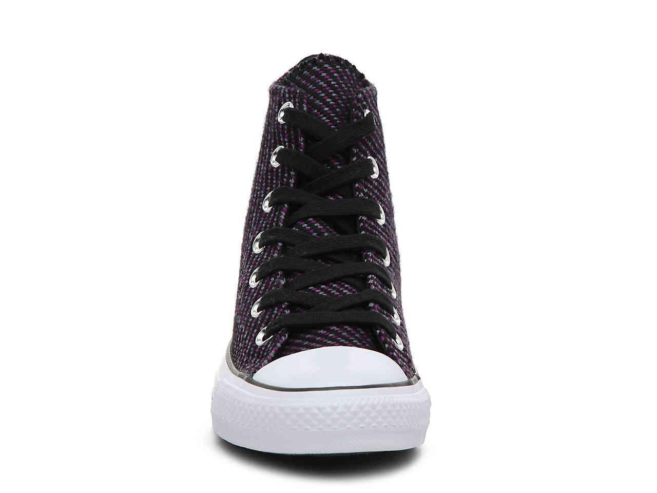 2ccf4441ce0dc7 Converse - Black Chuck Taylor All Star Knit High-top Sneaker - Lyst. View  fullscreen