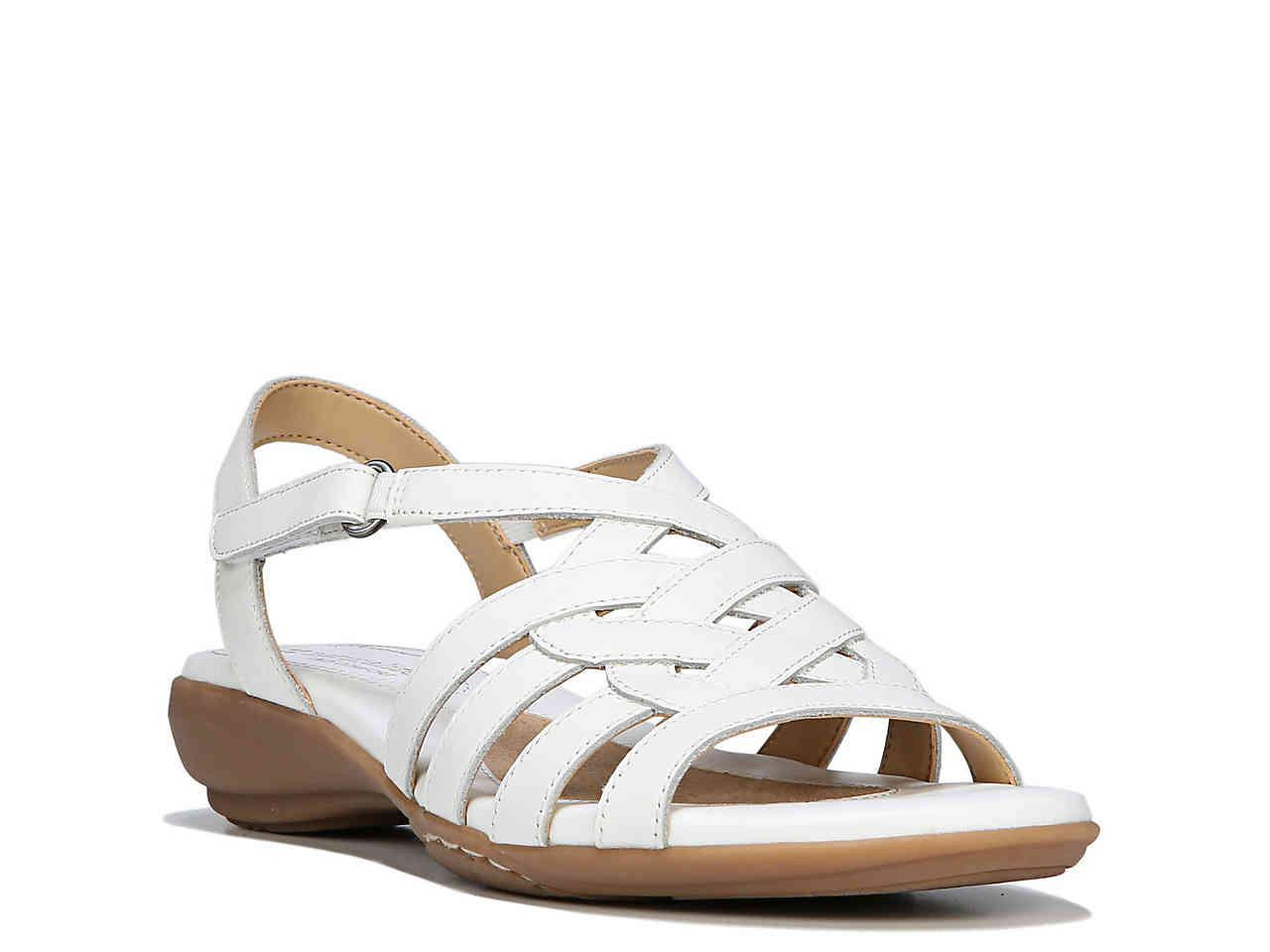 aaed1bd7c344 Lyst - Naturalizer Charm Wedge Sandal in White