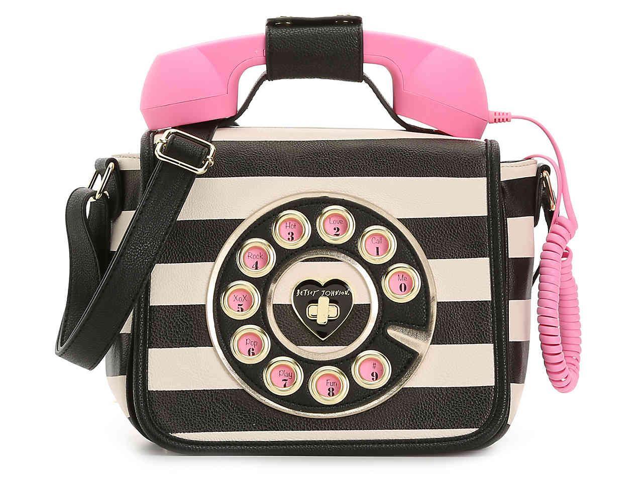 96bcbeb3c4b6 Lyst - Betsey Johnson Call Me Baby Crossbody Bag in Pink