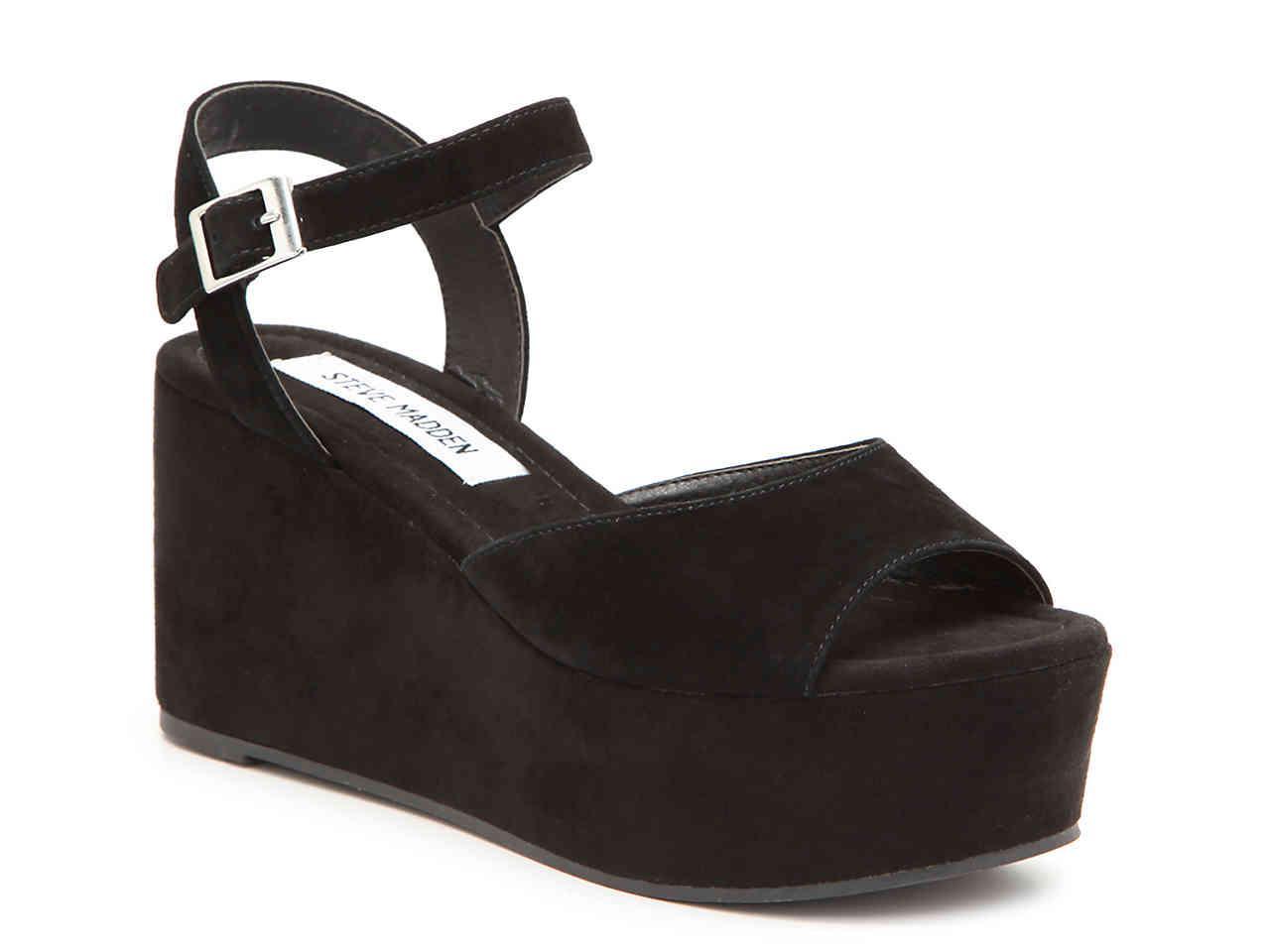 307c5f8a498 Lyst - Steve Madden Myla Platform Sandal in Black
