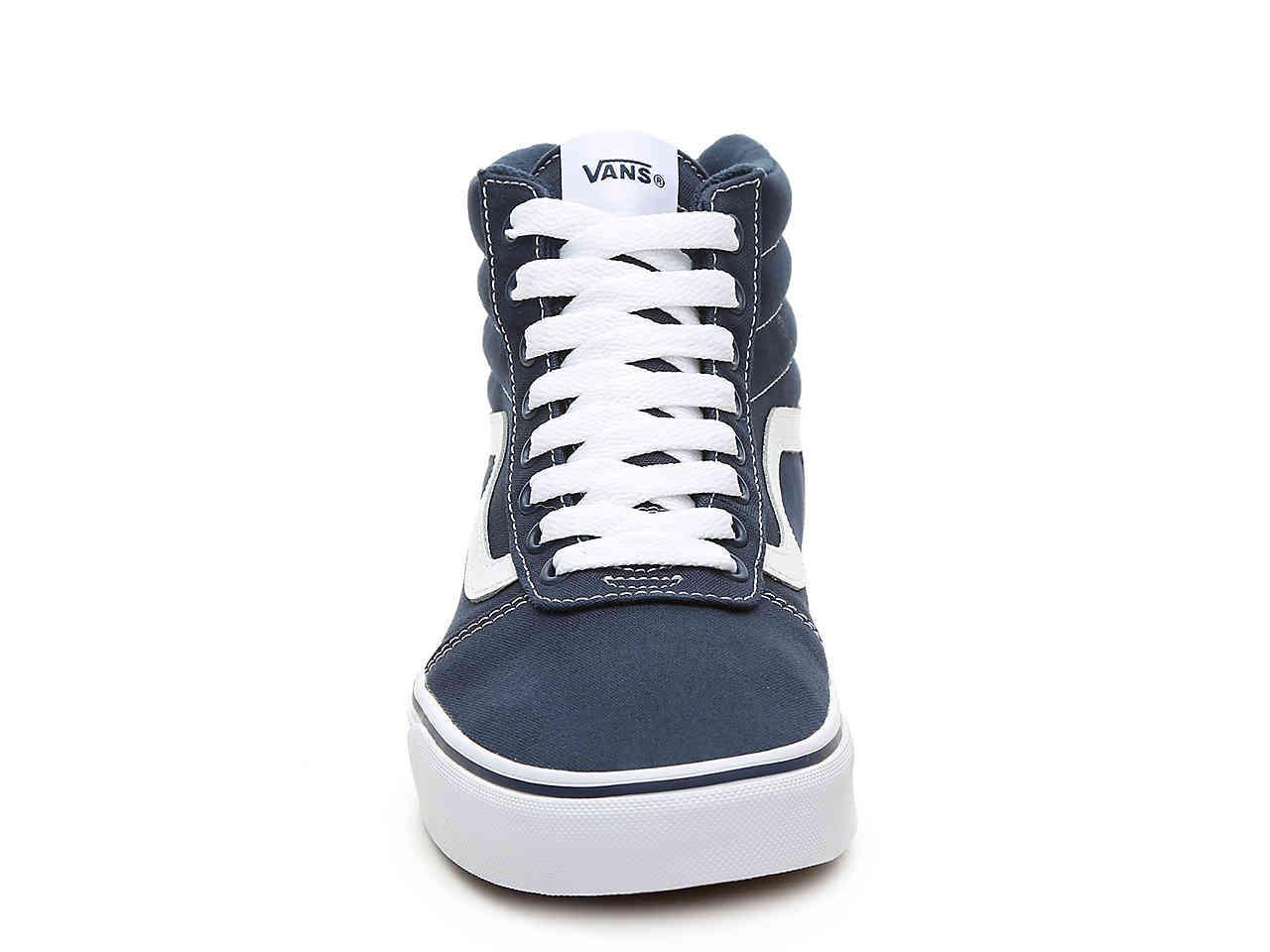 59d15fec21 Vans - Blue Ward Hi Canvas High-top Sneaker for Men - Lyst. View fullscreen