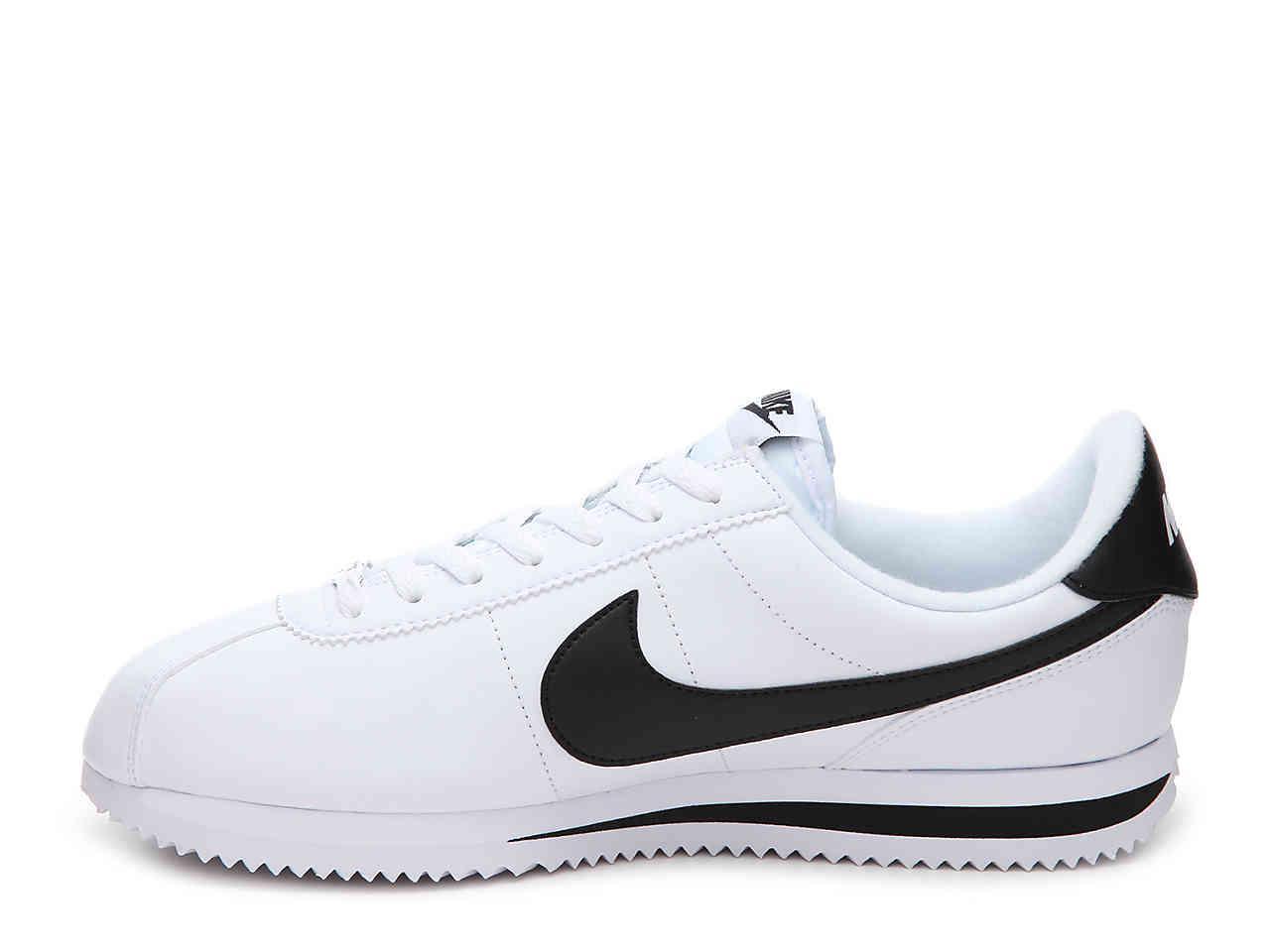 the latest 45068 88702 Nike - White Cortez Basic Leather for Men - Lyst. View fullscreen