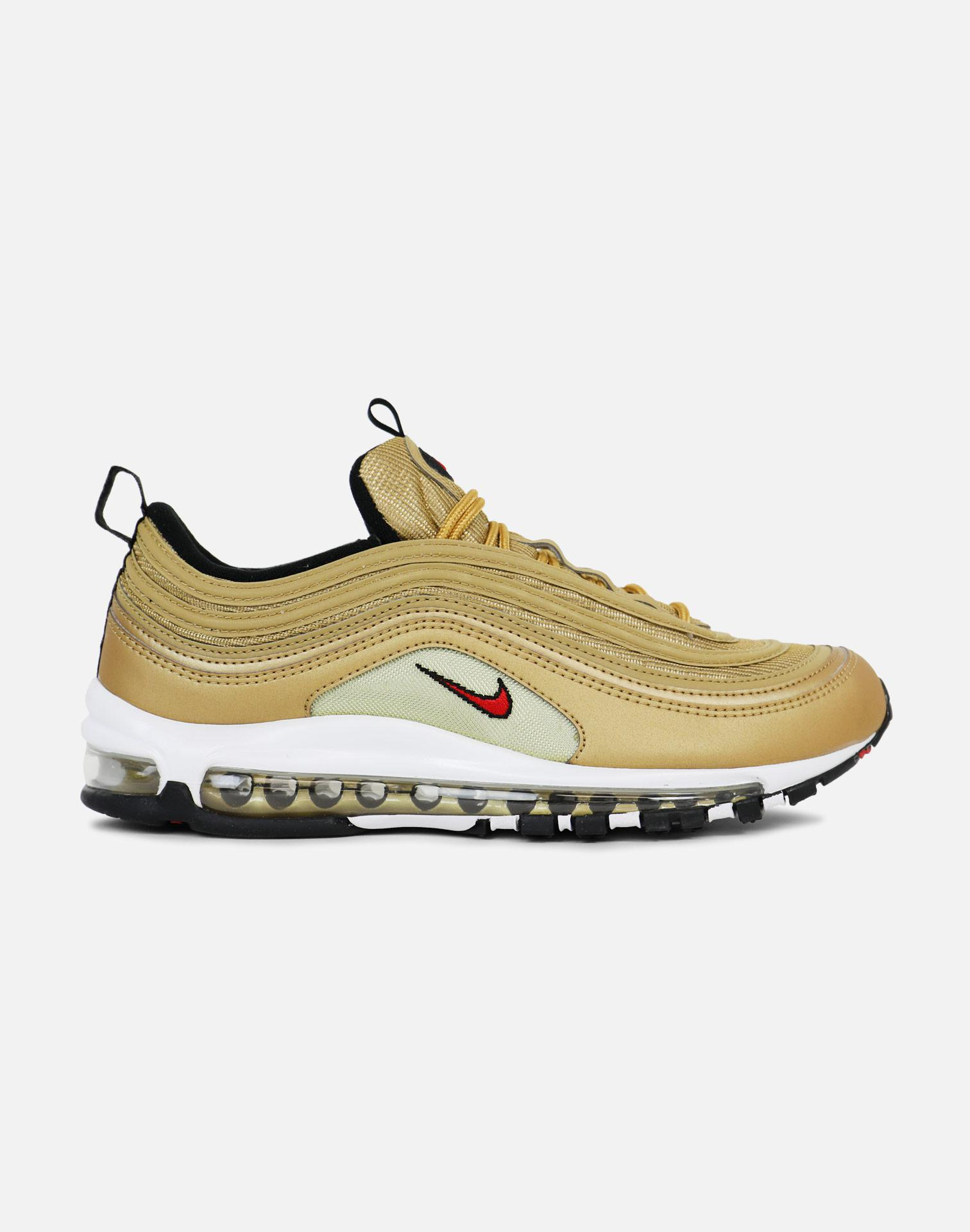 6b9ab981974a86 Lyst - Nike Air Max 97 Og-metallic Gold Varsity Red White Black in ...