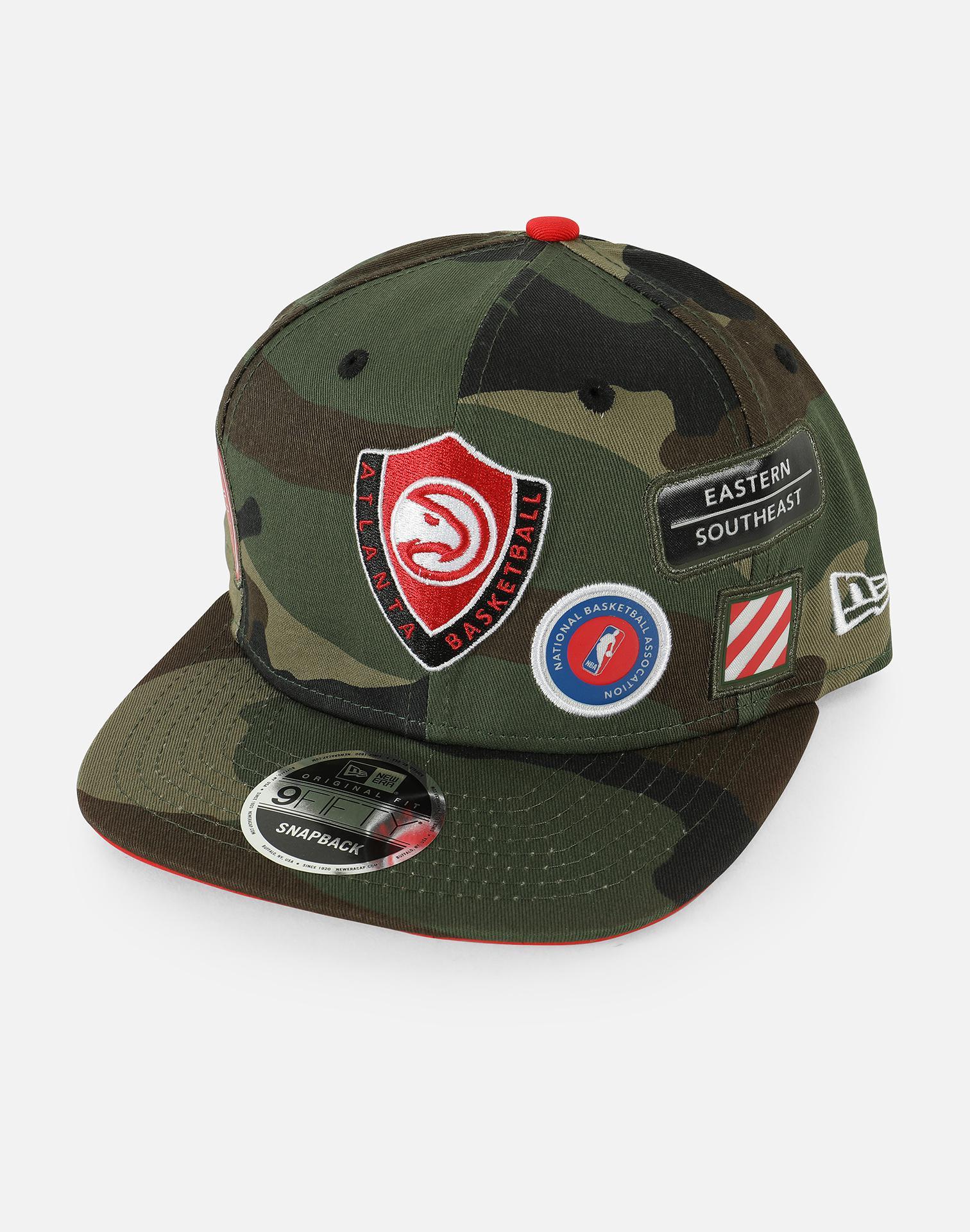 detailed look 85f3a 80541 KTZ. Men s Green Nba Atlanta Hawks Woodland Patch Exclusive 9fifty Snapback