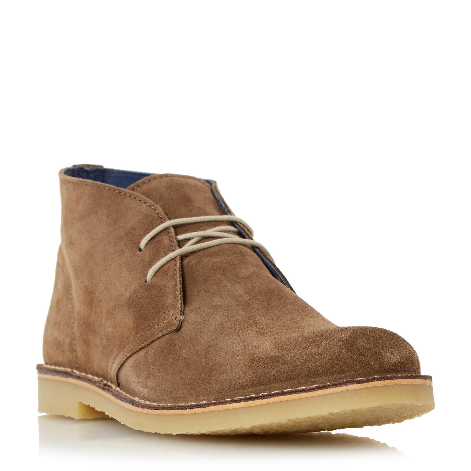 Dune. Men's Brown Calabassas Suede Desert Boots