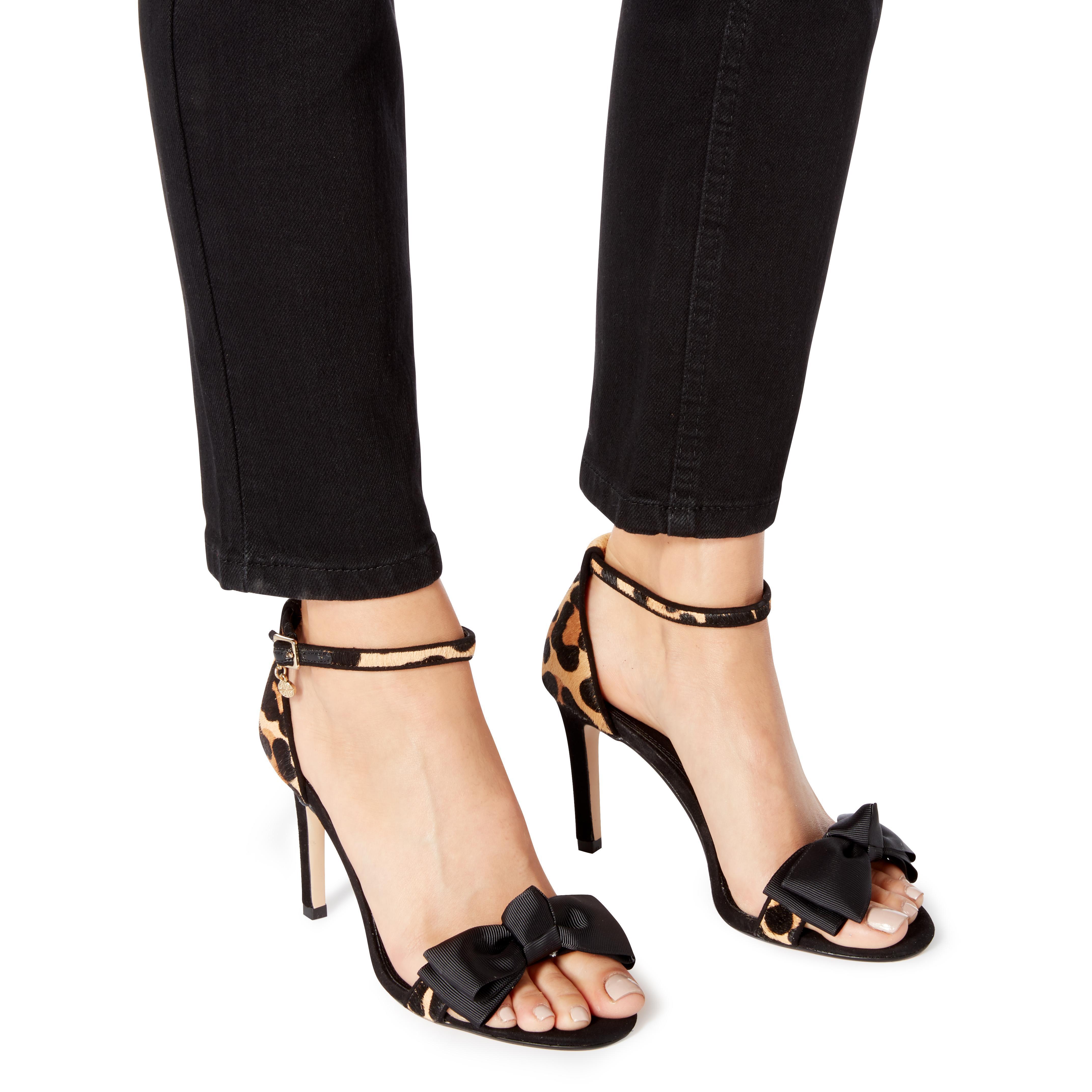 12e6e5d7ec4 Lyst - Dune Layered Grosgrain Bow High Heel Sandal