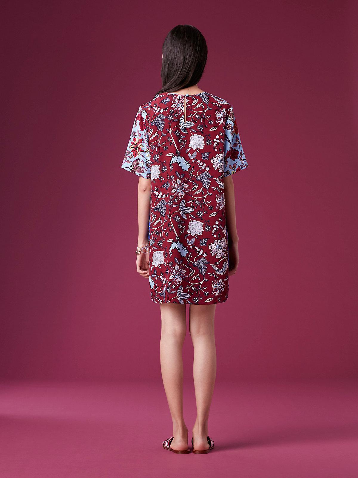 75a873eefd0 Diane von Furstenberg Short-sleeve Mini Fluid Dress in Blue - Lyst