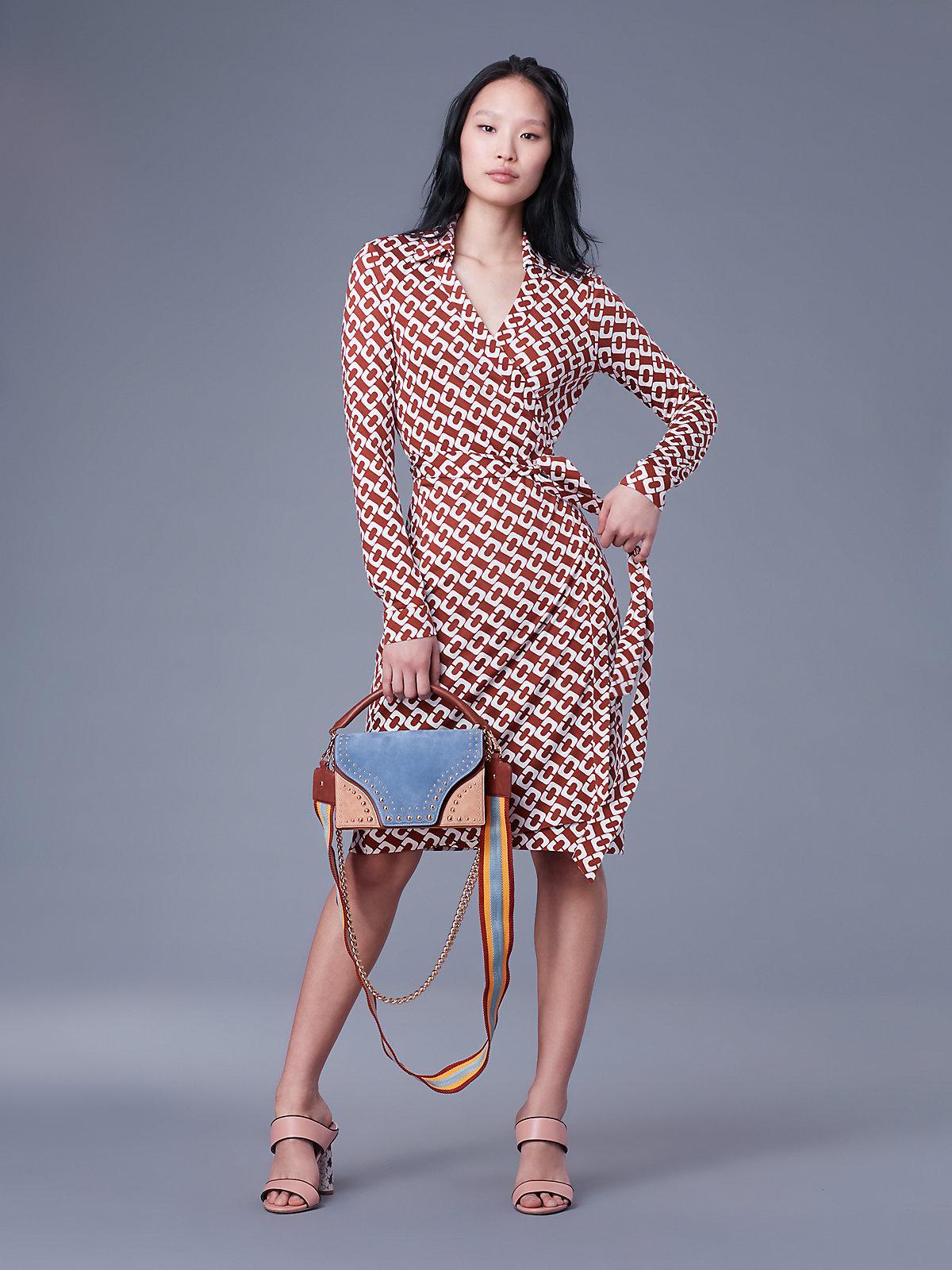 fd4f7d797c3 Diane von Furstenberg New Jeanne Two Silk-jersey Wrap Dress - Lyst