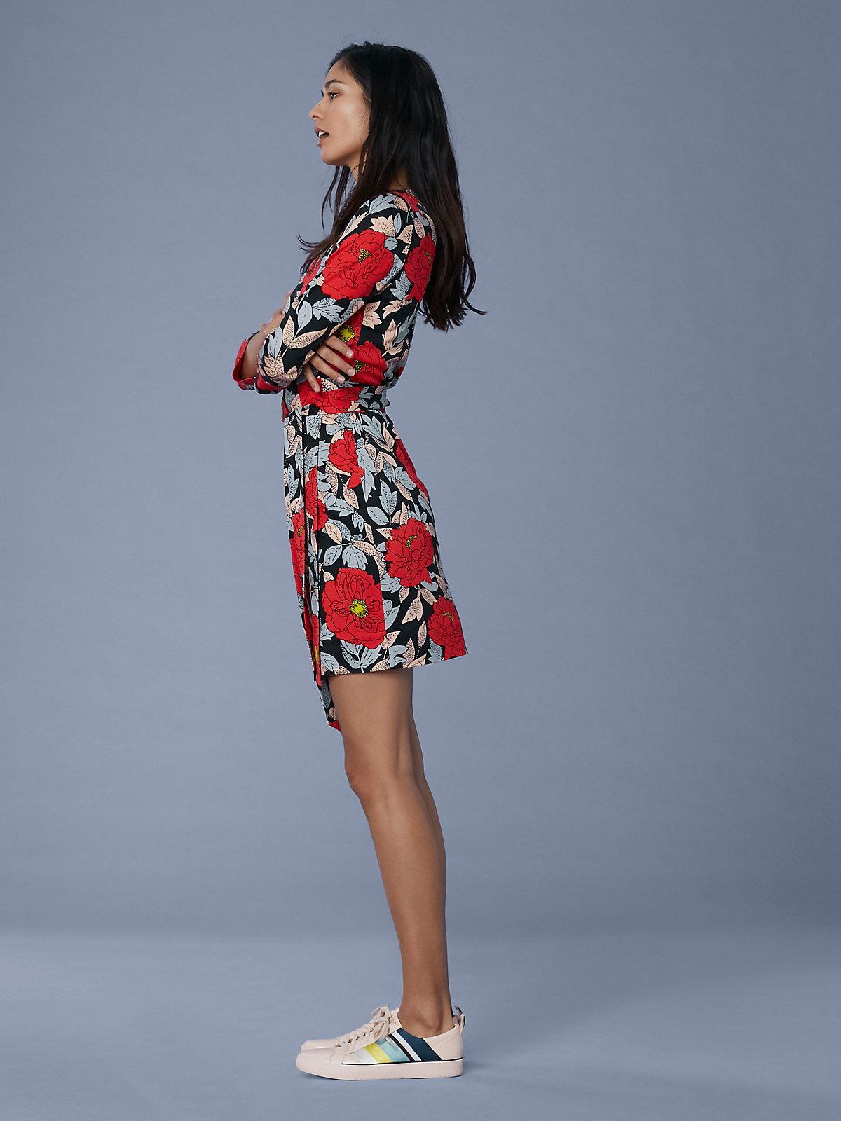 4f578aa12f Lyst - Diane von Furstenberg Julian Silk Jersey Mini Wrap Dress