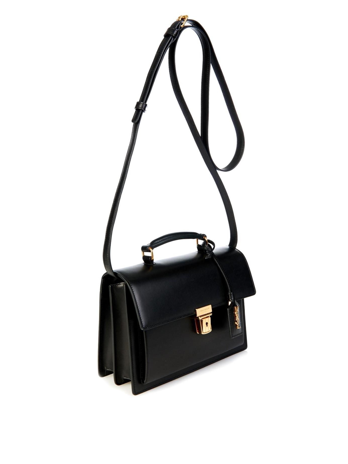 Saint Laurent High School Medium Leather Shoulder Bag In