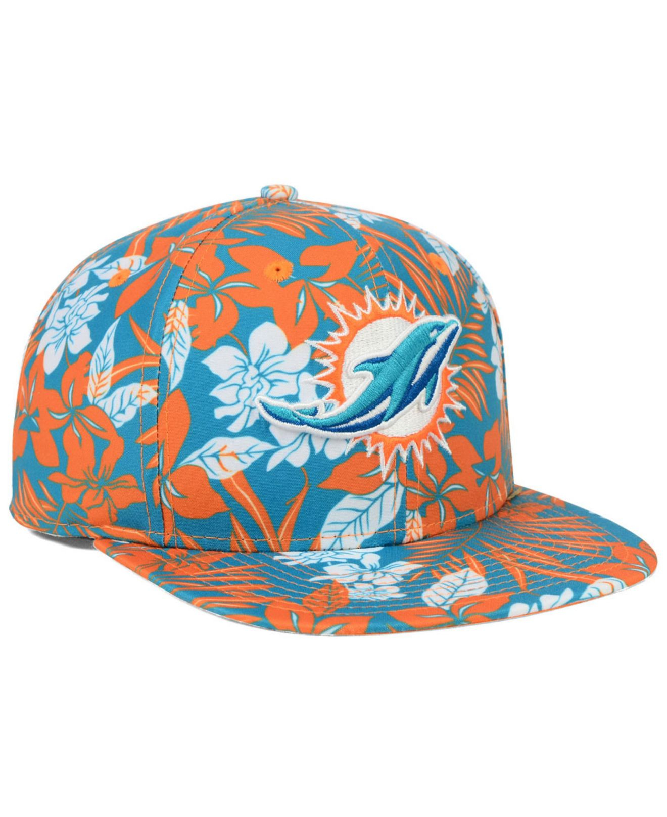 on sale 7ee9f ba27a ... denmark lyst ktz miami dolphins wowie snapback cap in blue for men  bd7a2 455bc