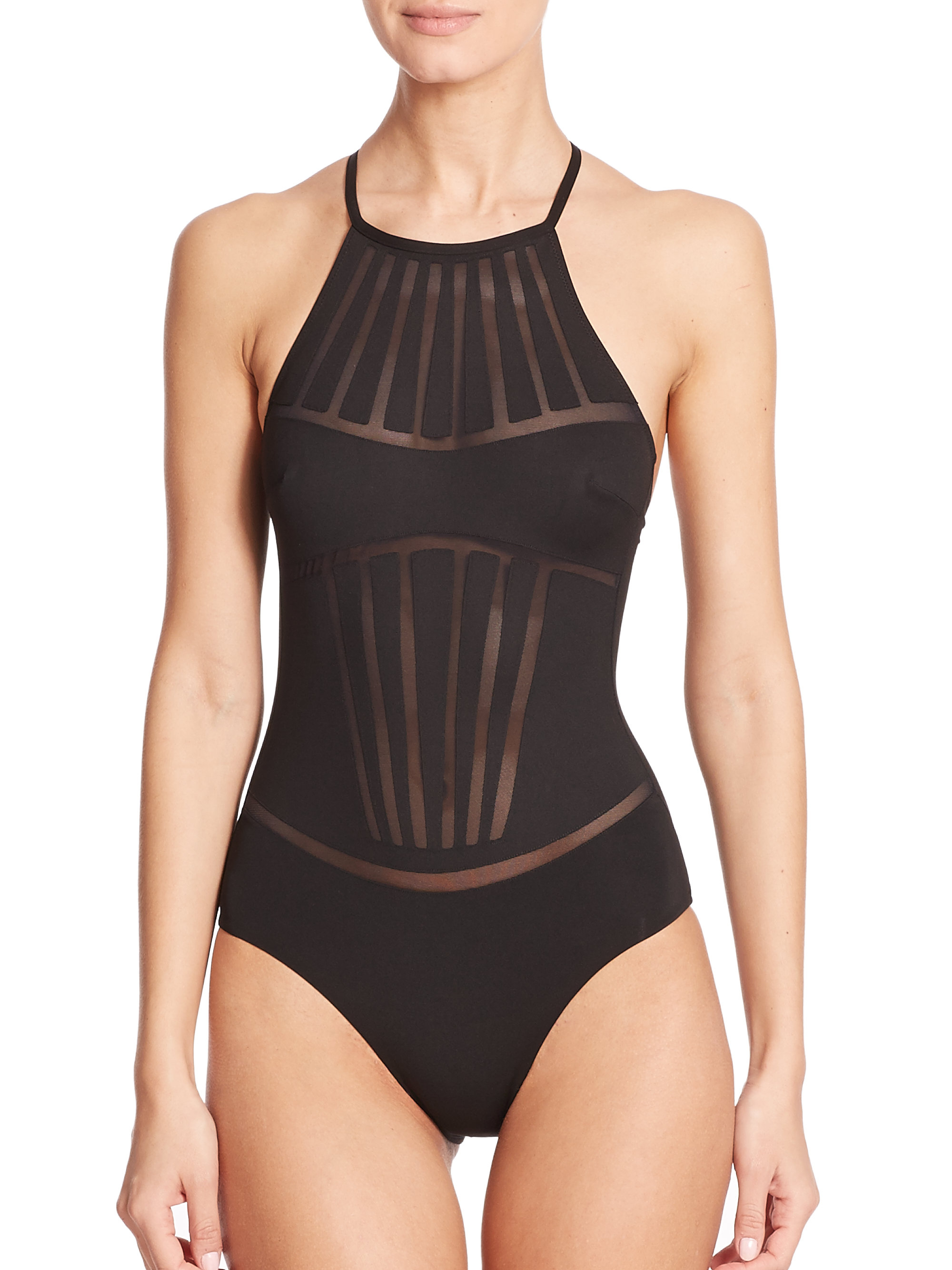 Lyst La Perla One Piece Dunes Swimsuit In Black