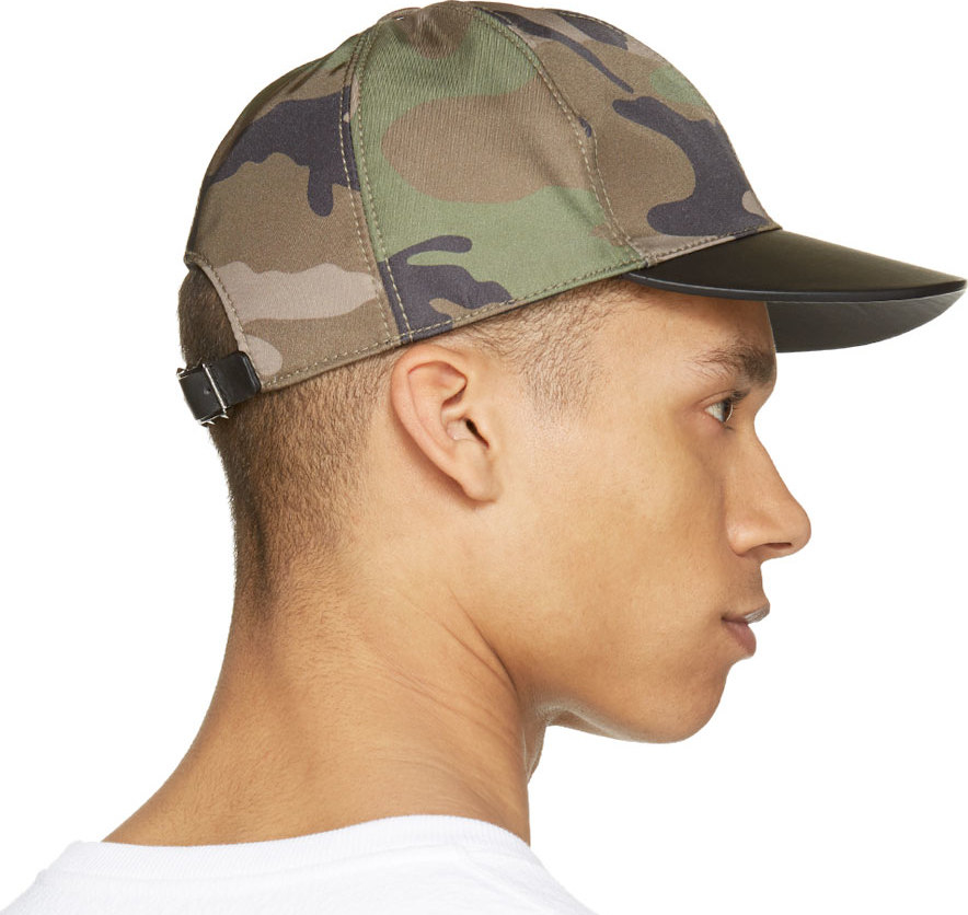 Lyst - Valentino Green Camouflage Cap in Green for Men de6690f3d7f
