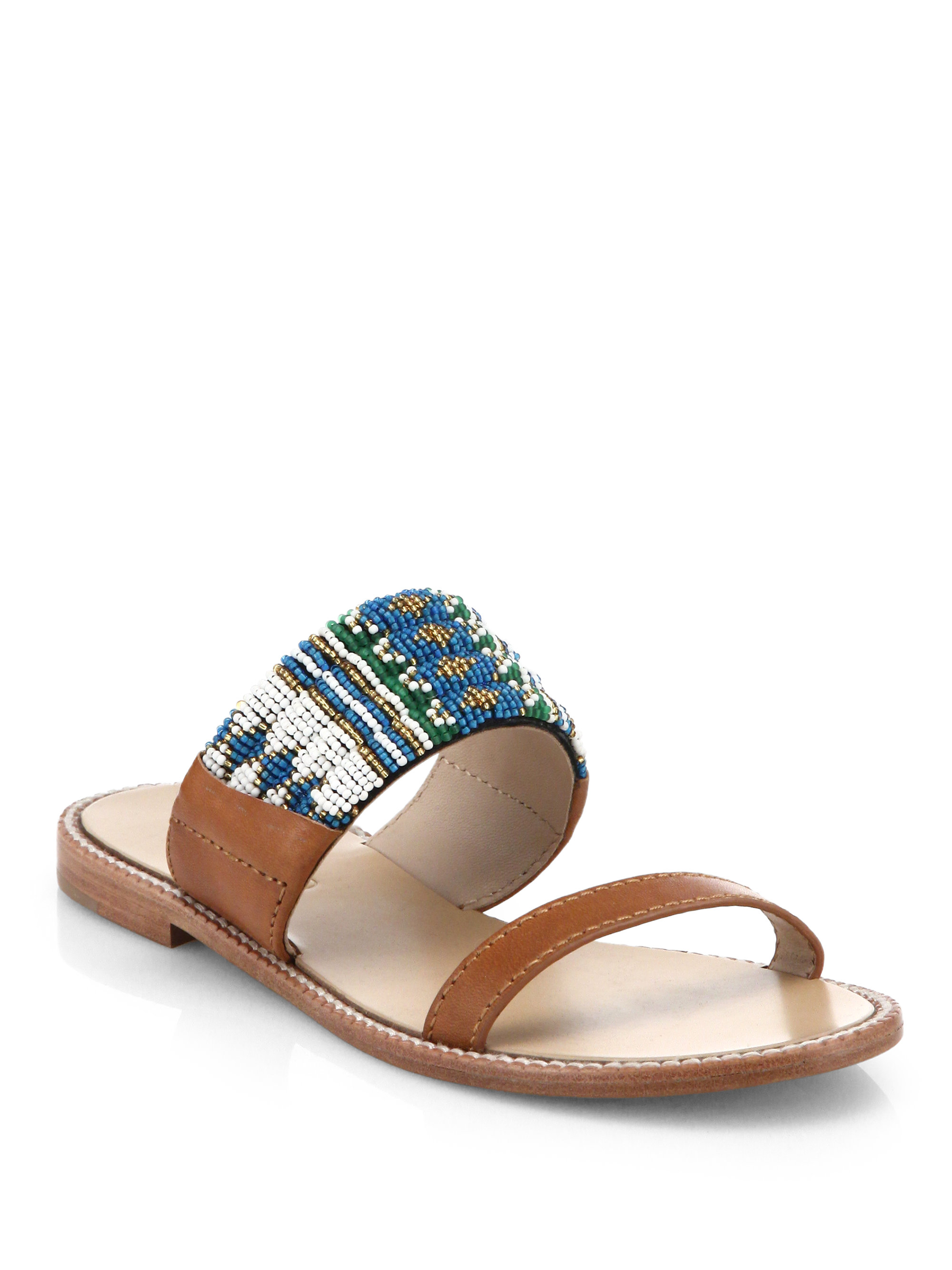 outlet order online Dannijo Beaded Slide Sandals clearance best seller free shipping cheapest price buy cheap best wholesale 9Qc9I