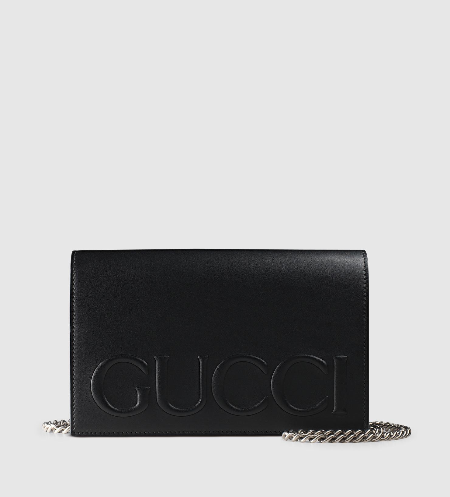 47af49326 Gucci Xl Leather Mini Bag in Black - Lyst