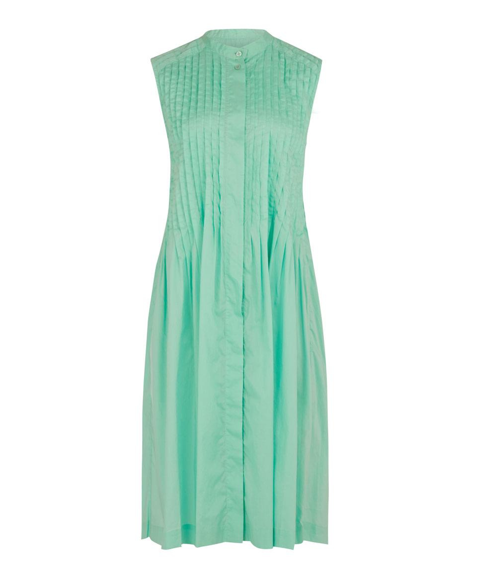 Lyst - HaaT Light Green Lawn Cotton Pintuck Dress in Green c0c29908e
