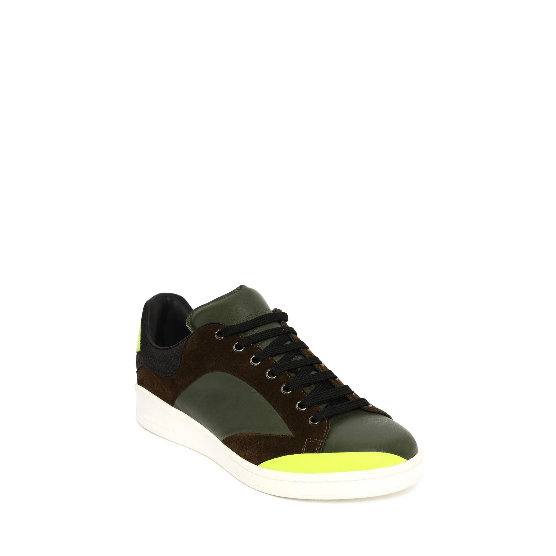 lyst alexander mcqueen low lace up abstract sneaker in. Black Bedroom Furniture Sets. Home Design Ideas