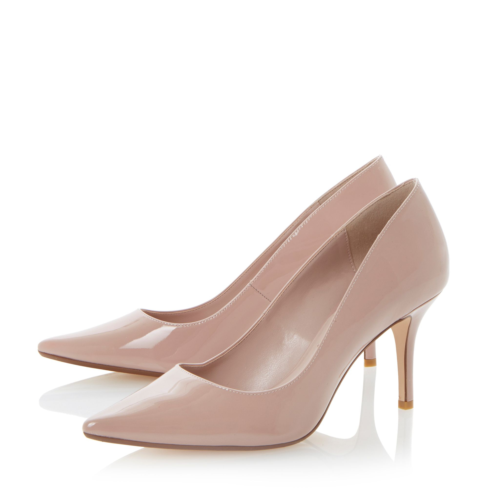 Nude Mid Heel Shoes - Is Heel