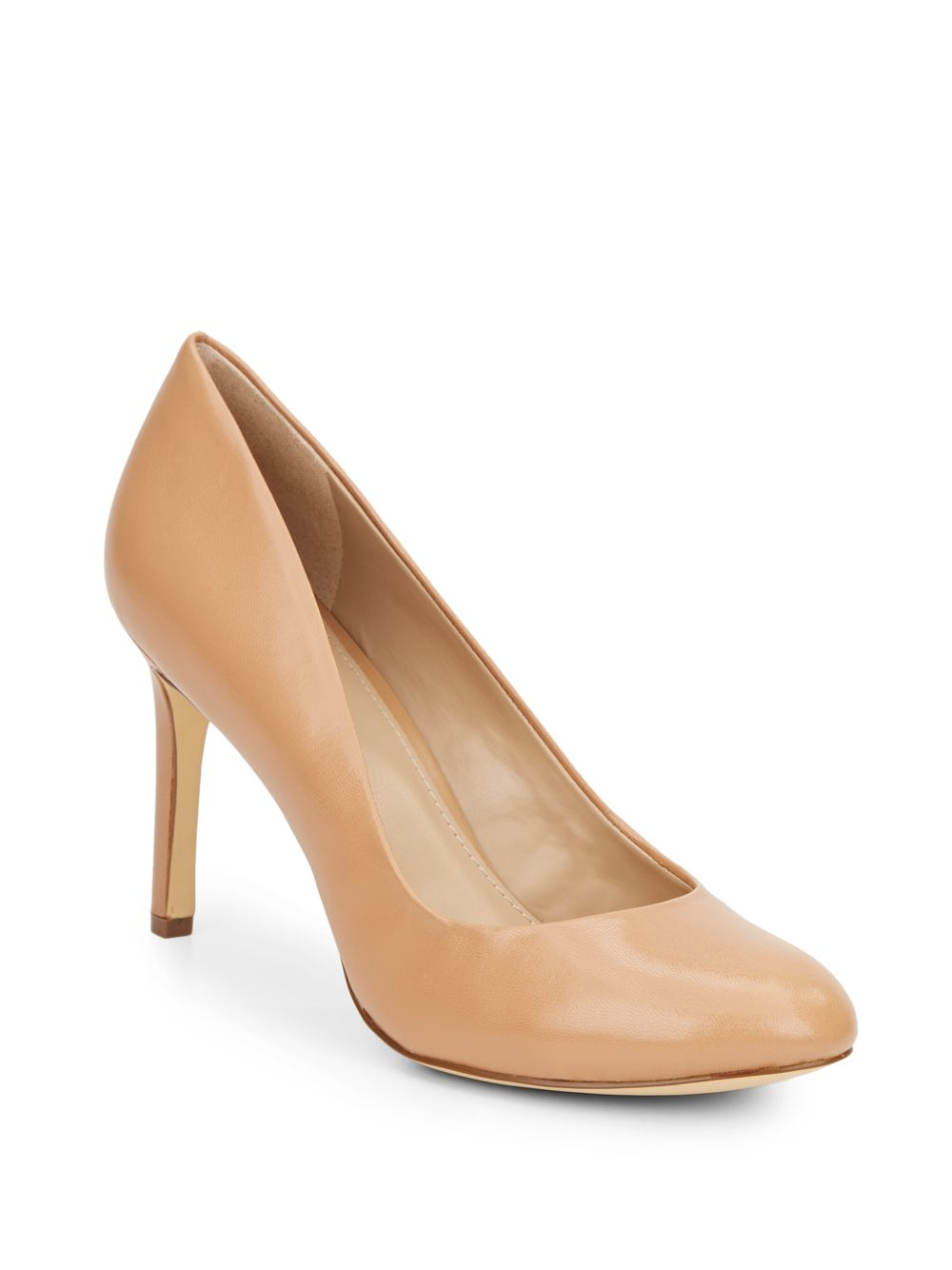 saks fifth avenue benni leather pumps in lyst