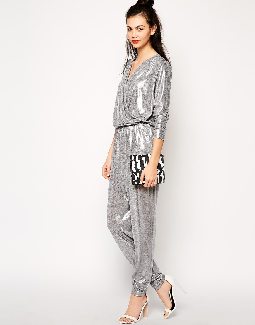Metallic Silver Jumpsuit | Fashion Ql