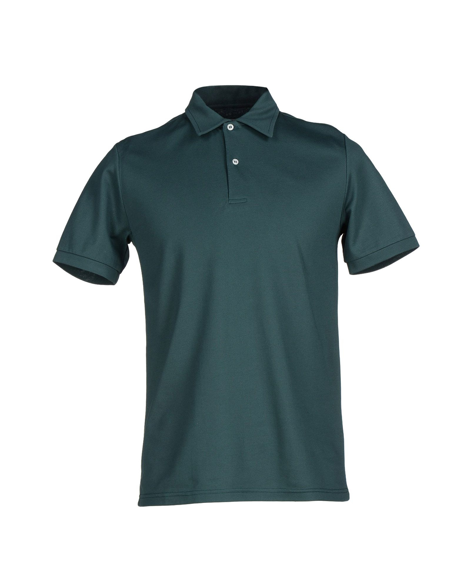 Les hommes polo shirt in teal for men dark green lyst for Mens teal polo shirt