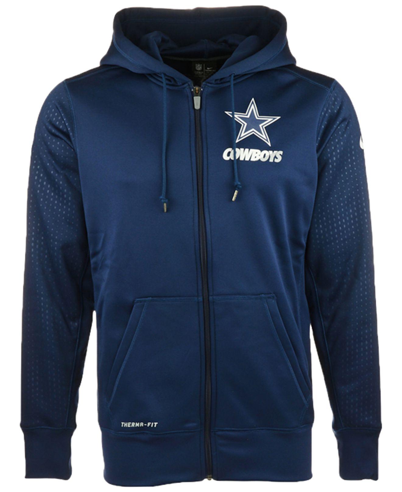 reputable site 91e8a b5744 mens dallas cowboys zip up hoodie