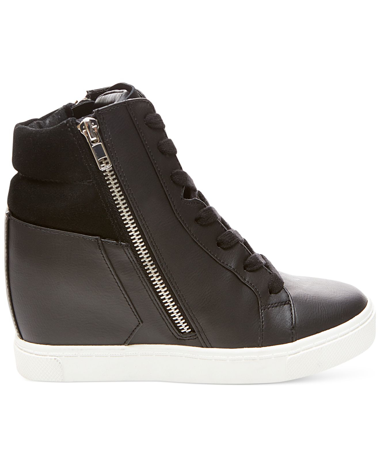 98d9a392bf1 Lyst steve madden lagoon high top wedge sneakers in black jpg 1320x1616 Steve  madden wedge sneakers