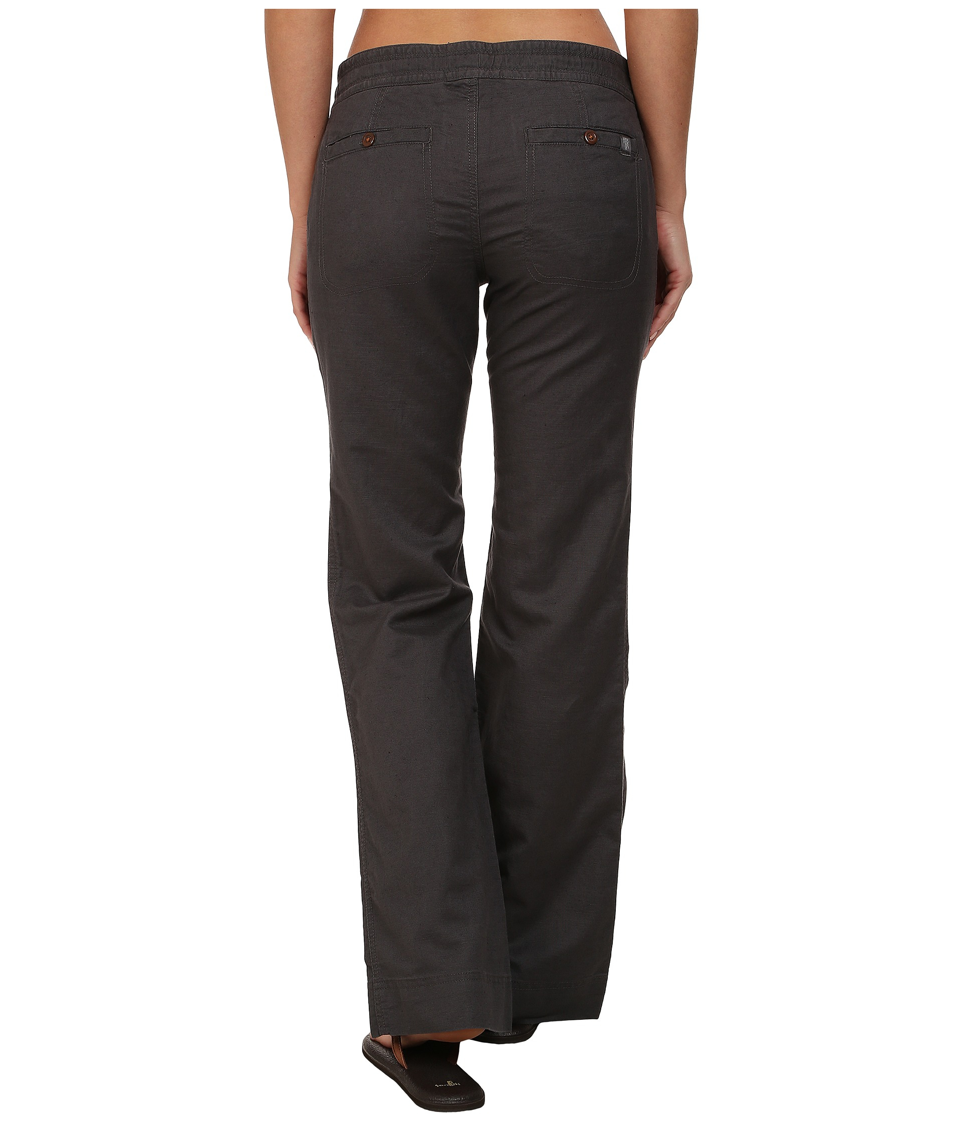 Awesome Eileen Fisher Linen Drawstring Pants In Gray | Lyst