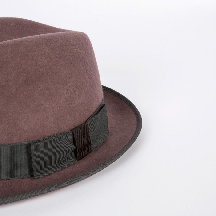 2153143506611 Paul Smith By Christys  Men s Dark Mauve Wool Trilby Hat in Purple ...