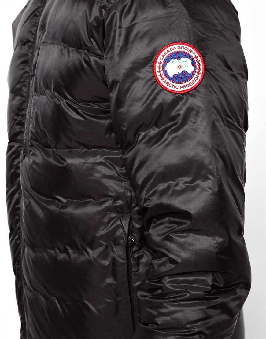 canada goose mens lodge jacket black