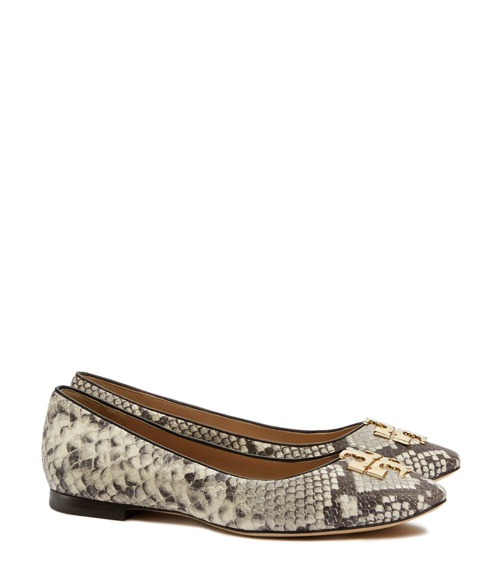 Tory Burch Printed Satin Flats ebay online clearance the cheapest 179oC