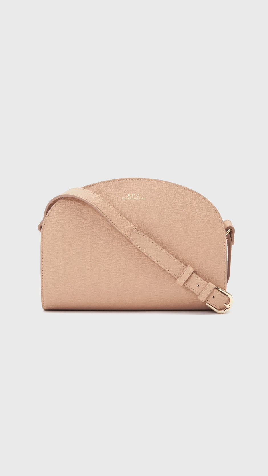 lyst a p c neutral pink half moon bag in pink. Black Bedroom Furniture Sets. Home Design Ideas