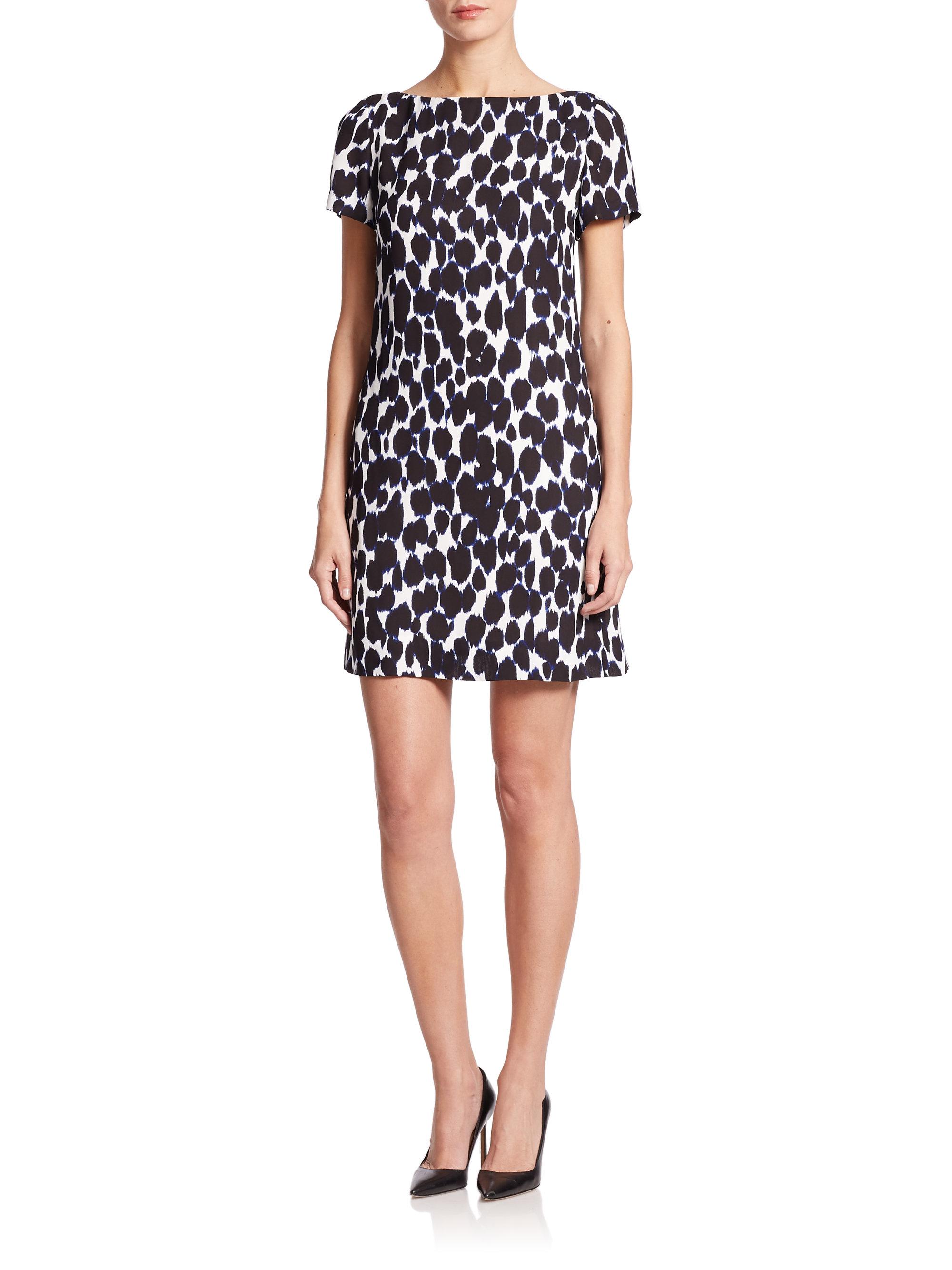 Kate Spade New York Leopard Print Swing Dress Lyst