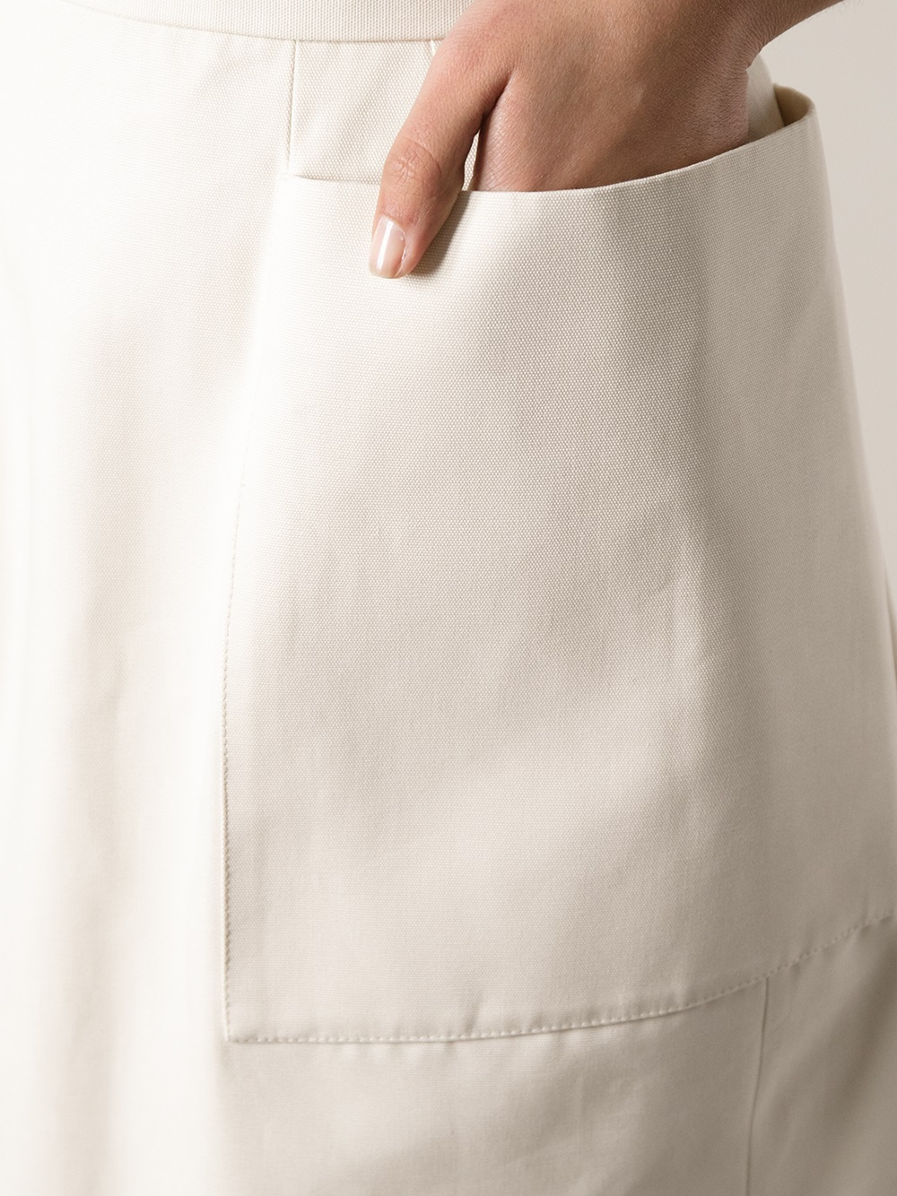 a82f1a4fe1 Alexander McQueen Oversize Pocket Skirt in Natural - Lyst